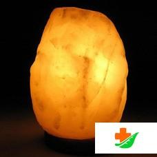 Соляная лампа WONDER LIFE Скала-Эко на деревянной подставке 2 кг
