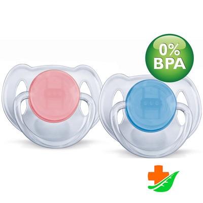 Пустышка AVENT силиконовая «Классика» BPA-Free 86140 6-18 в Барнауле