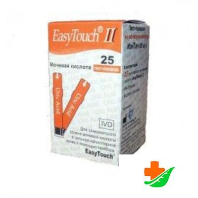 Тест-полоски EASYTOUCH на мочевую кислоту №25