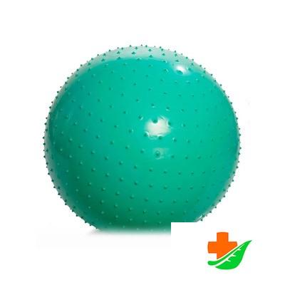 Мяч для занятий ЛФК М-185 с насосом (85 см, зеленый) игольчатый в Барнауле