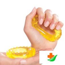 Массажер-эспандер ТРИВЕС М-111 кистевой, желтый, 7 см, 2 шт