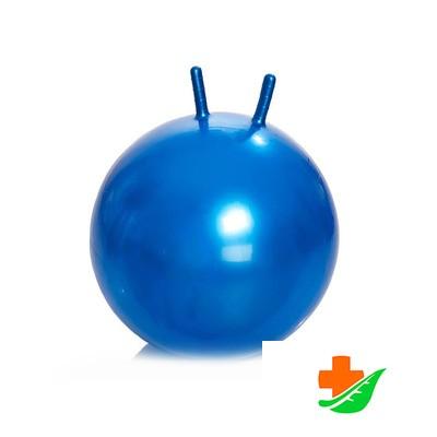 Мяч для занятий ЛФК М-365 с рожками, насос 65 см в Барнауле