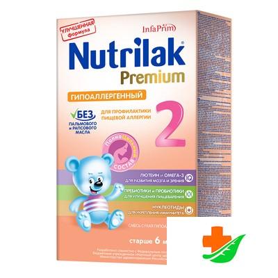 Смесь NUTRILAK Premium Гипоаллергенный 2 сухая 350 г 6+ в Барнауле