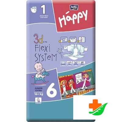 Подгузники HAPPY Junior Extra 6 (16кг+) №1