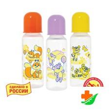 Бутылочка КУРНОСИКИ полипропиленовая с латексной соской «Мои любимые животные», 11145, 250 мл 0+
