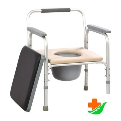 Кресло-туалет МЕГА-ОПТИМ FS 895 L для инвалидов до 100кг в Барнауле