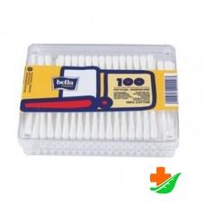 Ватные палочки BELLA пластмассовая упаковка 100шт