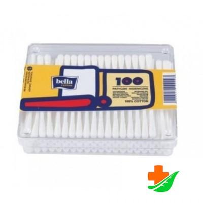 Ватные палочки BELLA пластмассовая упаковка 100шт в Барнауле