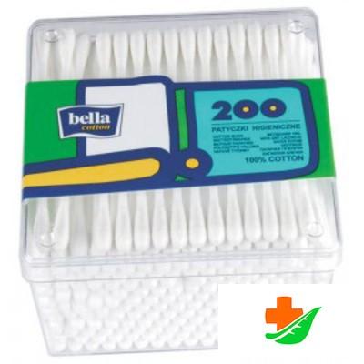 Ватные палочки BELLA пластмассовая упаковка 200шт в Барнауле