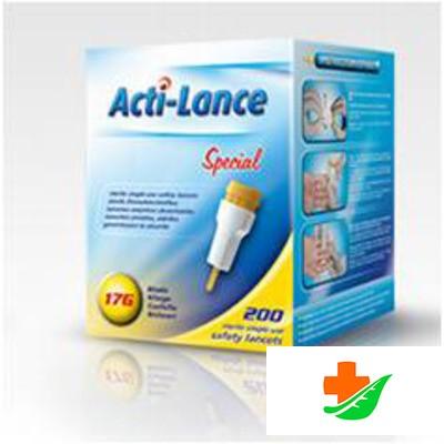 Ланцеты ACTI-LANCE Special (Лезвие 17 G 0,8 мм) 2,00 мм неонатальный №200