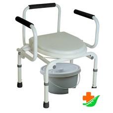 Кресло-туалет ТРИВЕС CA667 с опускающимися подлокотниками до 100кг