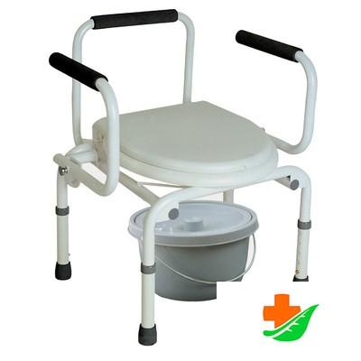 Кресло-туалет ТРИВЕС CA667 с опускающимися подлокотниками до 100кг в Барнауле