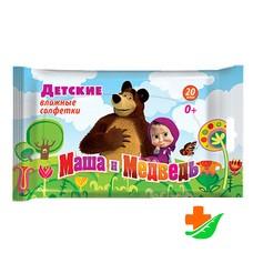 Салфетки влажные АВАНГАРД 30001 детские Маша и Медведь 20 шт