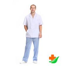 Блуза медицинская Скай мужская белая рост 170-176