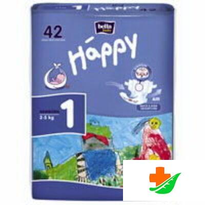 Подгузники HAPPY Newborn для новорожденных детей 2-5 кг 42 шт в Барнауле