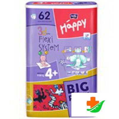 Подгузники HAPPY Maxi Plus 9-20 кг 66 шт в Барнауле