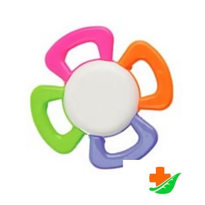 Прорезыватель-погремушка КУРНОСИКИ Цветик-семицветик 23053 в Барнауле