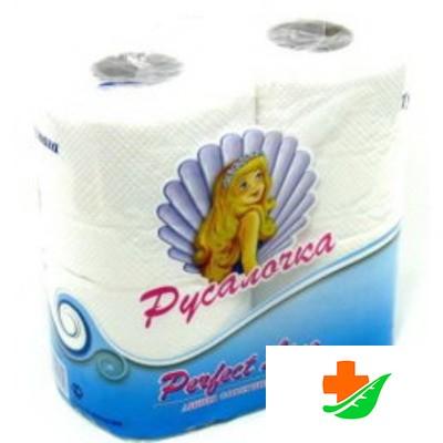 Туалетная бумага РУСАЛОЧКА белая 4рулона