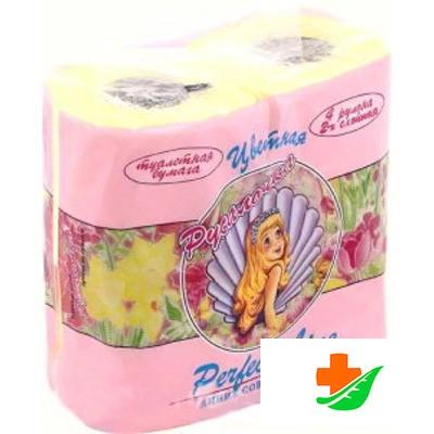 Туалетная бумага РУСАЛОЧКА желтая 4 рулона в Барнауле