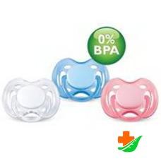 Пустышка AVENT силиконовая Free Flow (1 шт) BPA-Free 86370 0-6