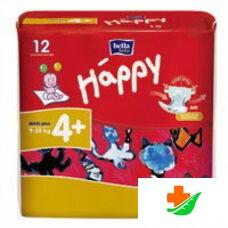 Подгузники HAPPY Maxi Plus 9-20 кг 12 шт