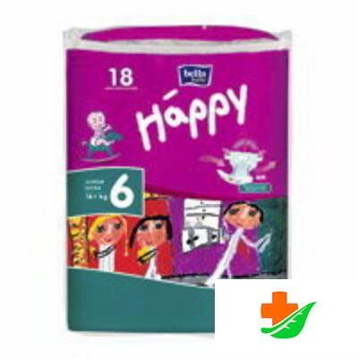 Подгузники HAPPY Junior Extra 16 кг+ 18 шт