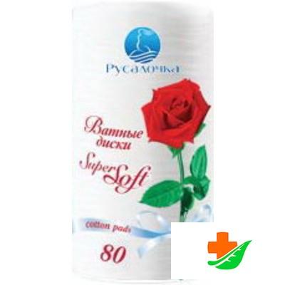 Ватные диски РУСАЛОЧКА Super Soft 80шт