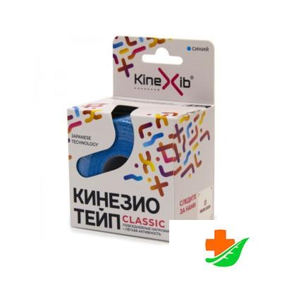 Кинезио-Тейп Classic KINEXIB синий 5м х 5см в Барнауле