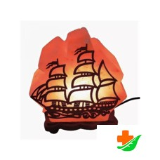 Соляная лампа WONDER LIFE «Кораблик с деревянной картинкой» 4-5 кг