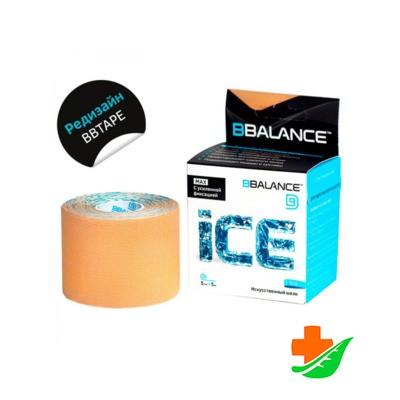 Кинезио тейп BBalance Ice Max бежевый 5см*5м в Барнауле
