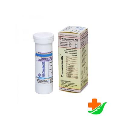 Тройной тест УРИПОЛИАН-3А глюкоза, белок, рН, 50 полосок
