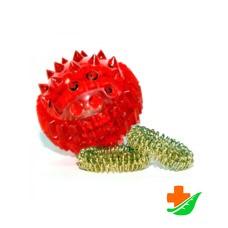 Массажер для рук «Массажный шарик» Су Джок с двумя кольцевыми пружинами