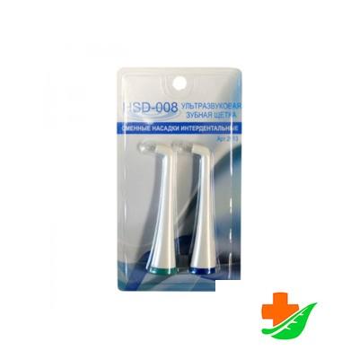 Комплект сменных насадок DONFEEL интердентальных для ультразвуковой зубной щетки HSD-008, 2шт в Барнауле