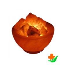 Соляная лампа WONDER LIFE Ваза с камнями с диммером 2кг