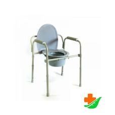 Кресло-туалет МЕГА-ОПТИМ HMP-7210A с санитарным оснащением до 135кг