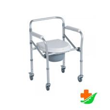 Кресло-туалет CAREMAX CA615 на четырех колесах складное до 100 кг