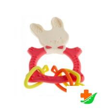 Прорезыватель ROXY-KIDS Bunny Teether RBT-001R коралловый