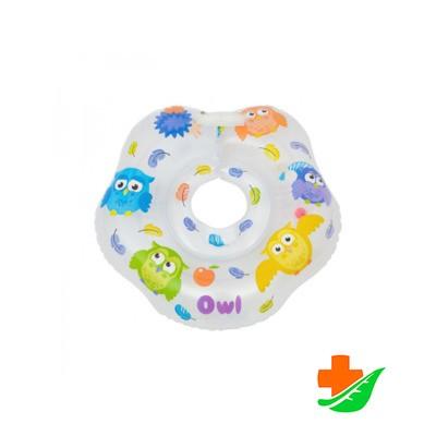 Круг на шею ROXY-KIDS Owl Сова для купания малышей 0-18кг в Барнауле