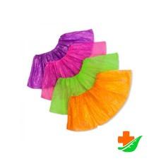 Бахилы ELEGREEN детские прочные в групповой упаковке зеленые №50
