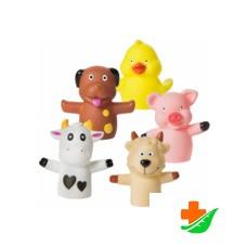 Игрушки на пальчики КУРНОСИКИ 25026 «Веселая ферма» 5 шт 12+