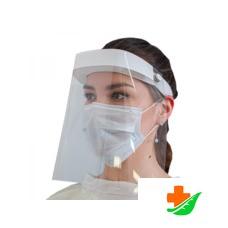Экран защитный для лица многоразовый 1 шт. + маска голуб. 5 шт комплект