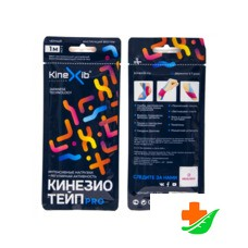 Бинт KINEXIB Кинезио-тейп Pro tape чёрный 1м*5см