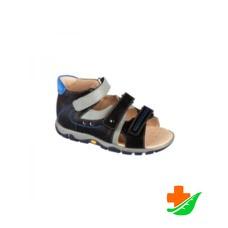Сандалеты ортопедические TWIKI TW-134-3 с открытым носком черно-серые