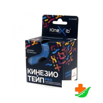 Бинт KINEXIB Кинезио-тейп Pro синий 5смх5м в Барнауле