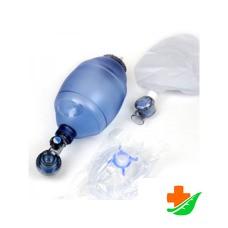 Мешкок дыхательный МЕДПЛАНТ Амбу 1127 одноразовый для ручной ИВЛ для взрослых 2л