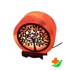 Соляная лампа WONDER LIFE Круг 7 дюймов с картиной Денежное дерево 2,5кг