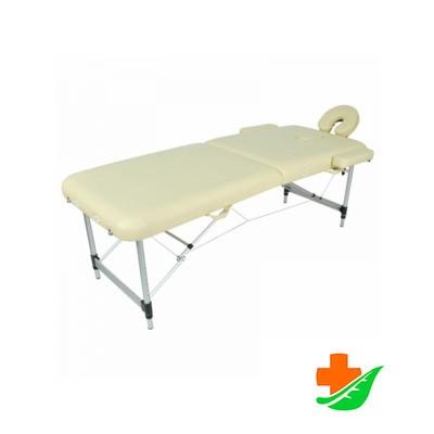Массажный стол MED-MOS JFAL01A 2-х секционный складной алюминиевый в Барнауле