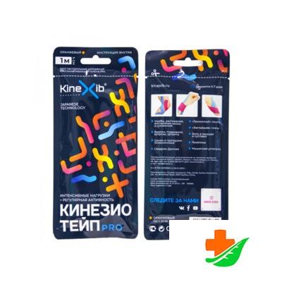 Бинт KINEXIB Кинезио-тейп Pro tape оранжевый 1 м в Барнауле