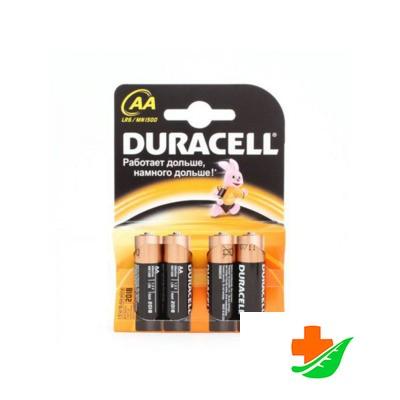 Батарейка DURACELL Original пальчиковые AA LR6, 4шт