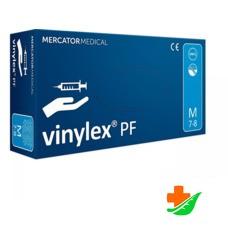 Перчатки виниловые MERCATOR MEDICAL Vinylex PF неопудренные бесцветные